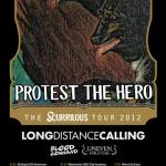 Protest The Hero, Long Distance Calling, Blood Command, Uneven Structure - Hamburg, Logo - 1